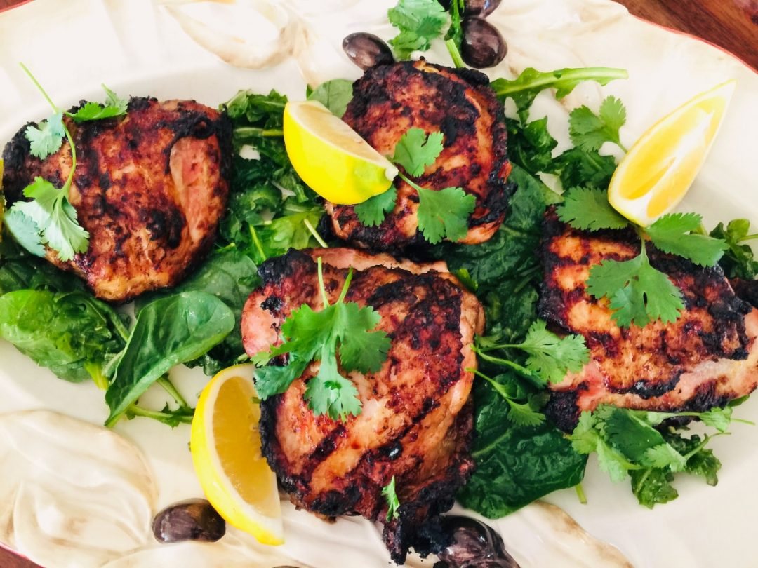 Grilled Thai Chicken Thighs with Greens – Recipe! Image 1