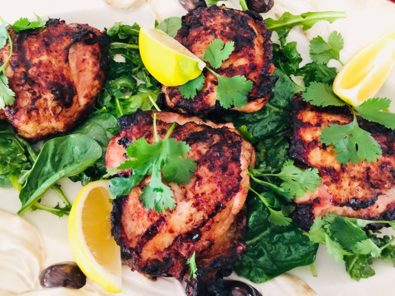 Grilled Thai Chicken Thighs – Recipe! Image 1