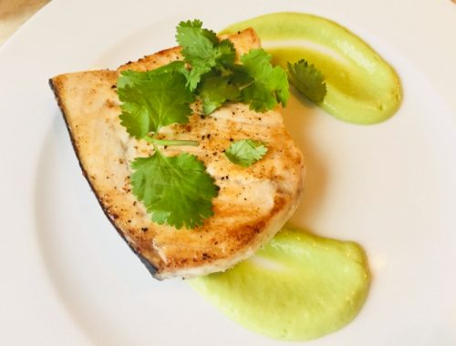 Swordfish with Tangy Avocado Sauce – Recipe!