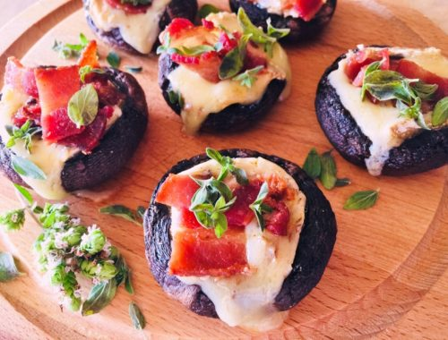 Brie & Bacon Stuffed Mushrooms – Recipe!