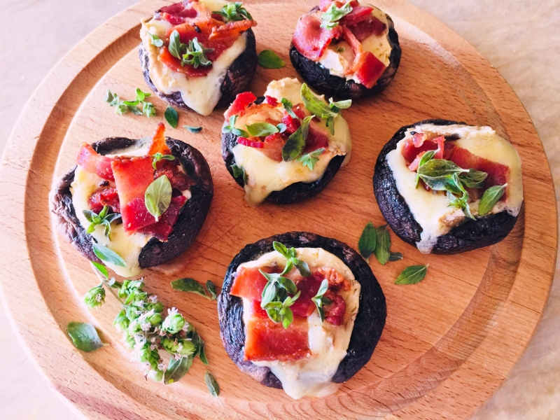 Brie & Bacon Stuffed Mushrooms – Recipe! Image 2