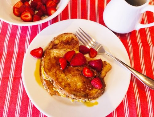 Bruleed French Toast with Strawberries – Recipe!