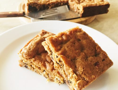 Coconut, Pecan & Chocolate Chunk Blondies – Recipe!