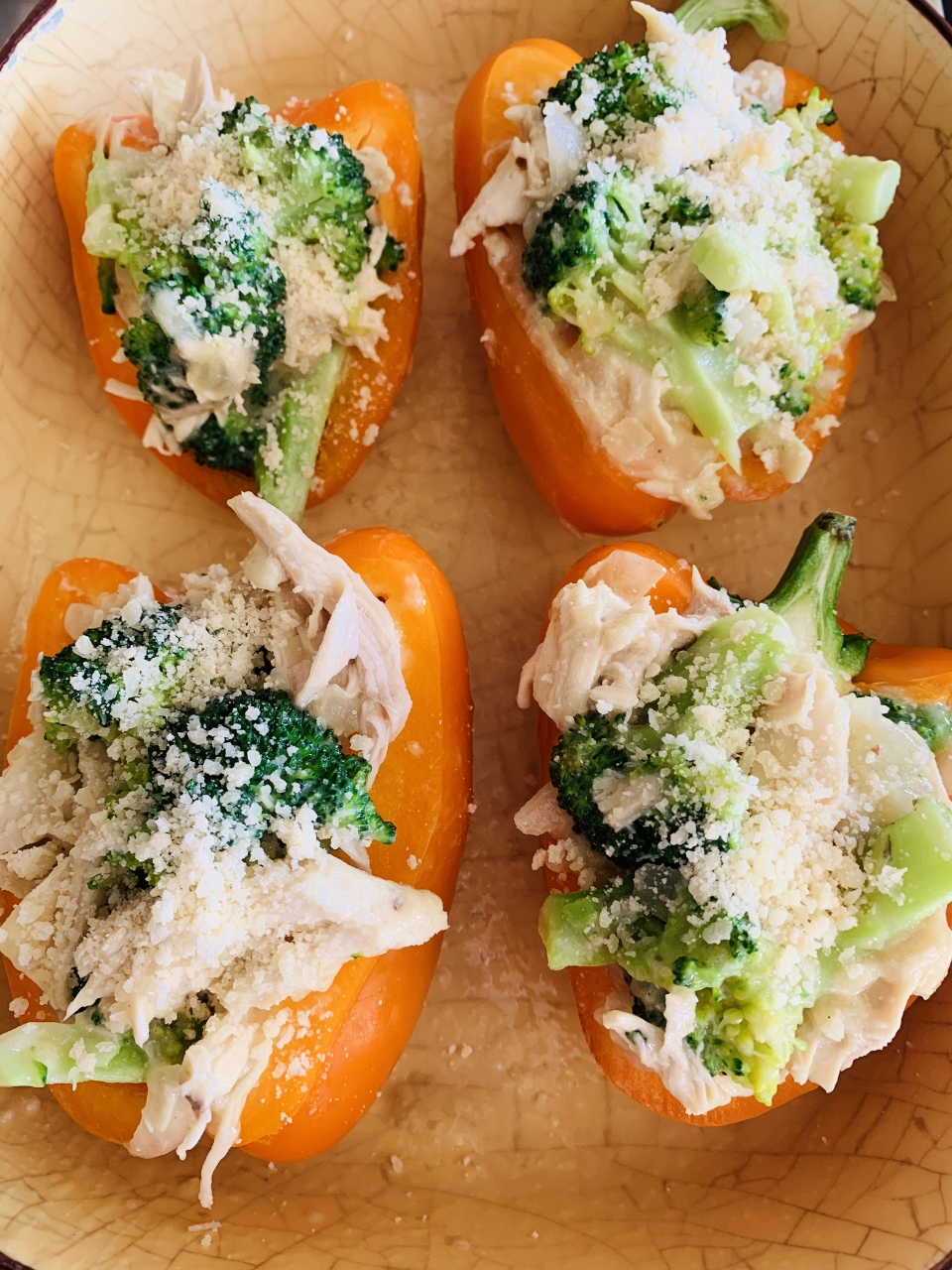 Creamy Chicken & Broccoli Stuffed Peppers – Recipe! Image 2