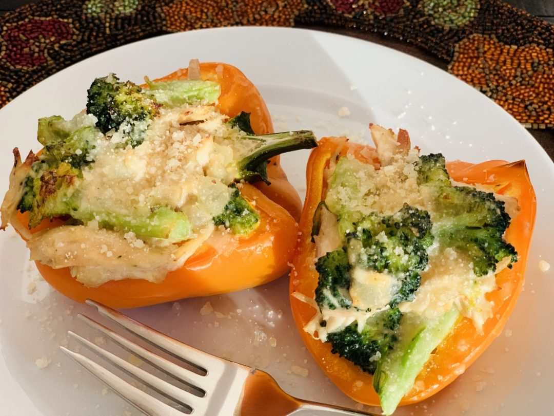Creamy Chicken & Broccoli Stuffed Peppers – Recipe! Image 1