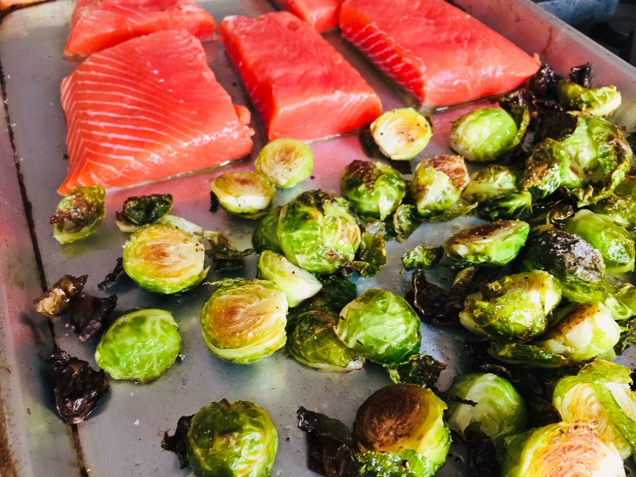 Sheet Pan Honey Mustard Salmon & Brussels Sprouts – Recipe! Image 3