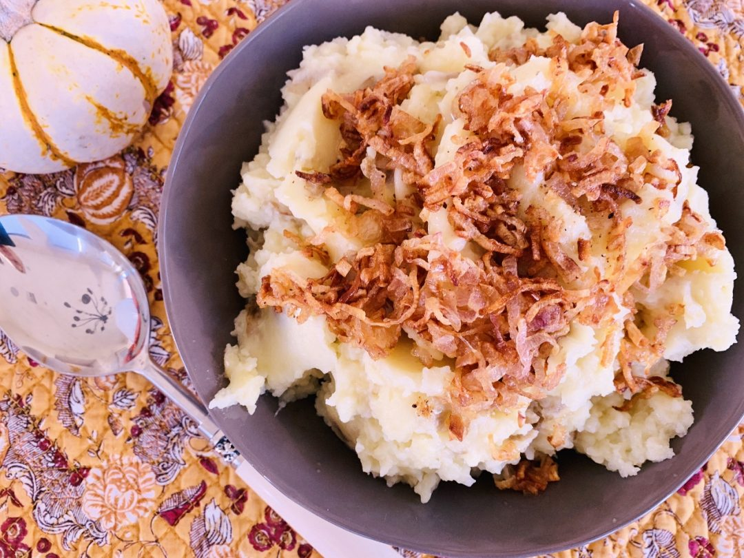 Rustic Mashed Potatoes with Frizzled Shallots – Recipe! Image 1