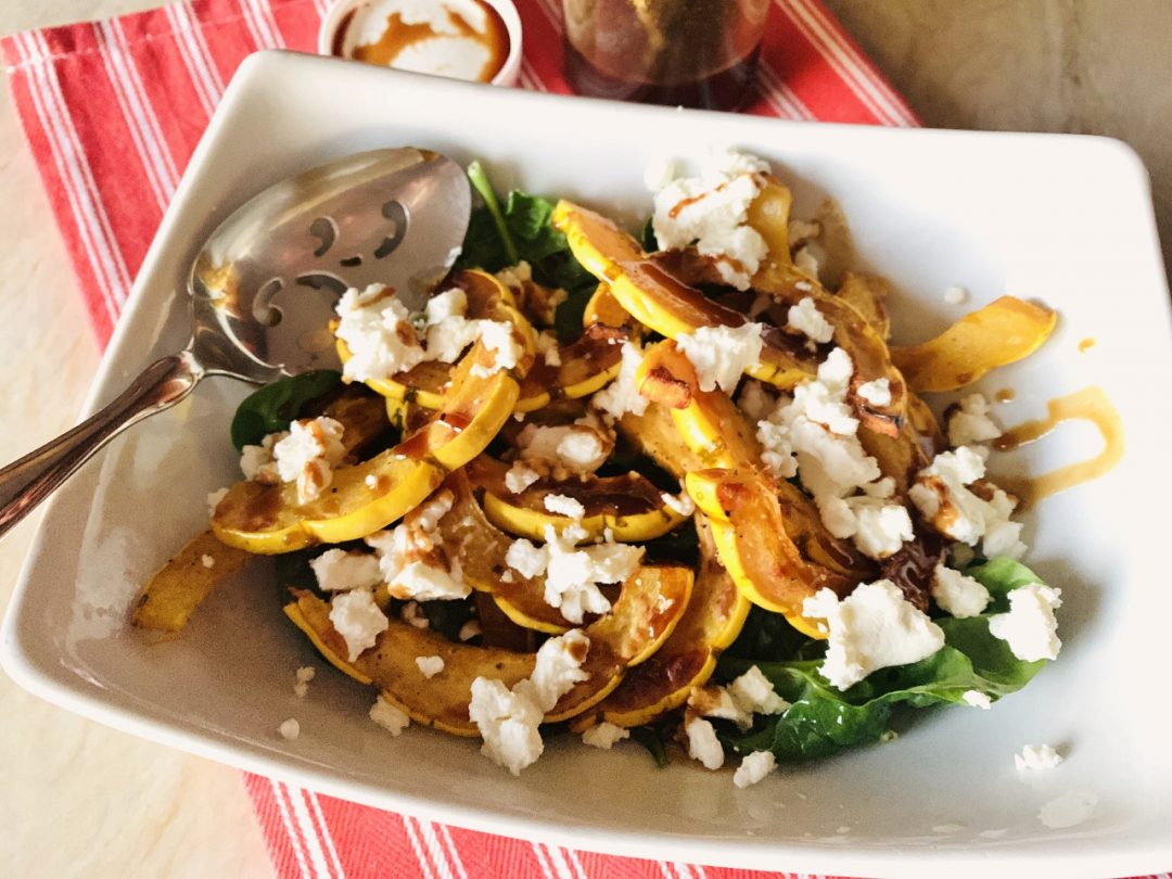 Delicata Squash & Goat Cheese Salad – Recipe! Image 1