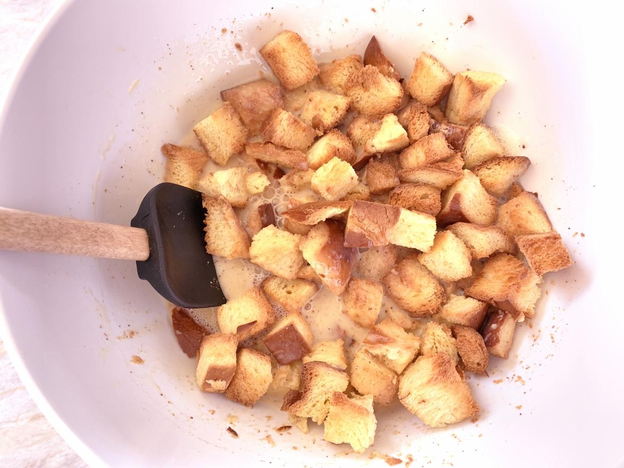 Eggnog Bread Pudding with Warm Caramel Sauce – Recipe! Image 5