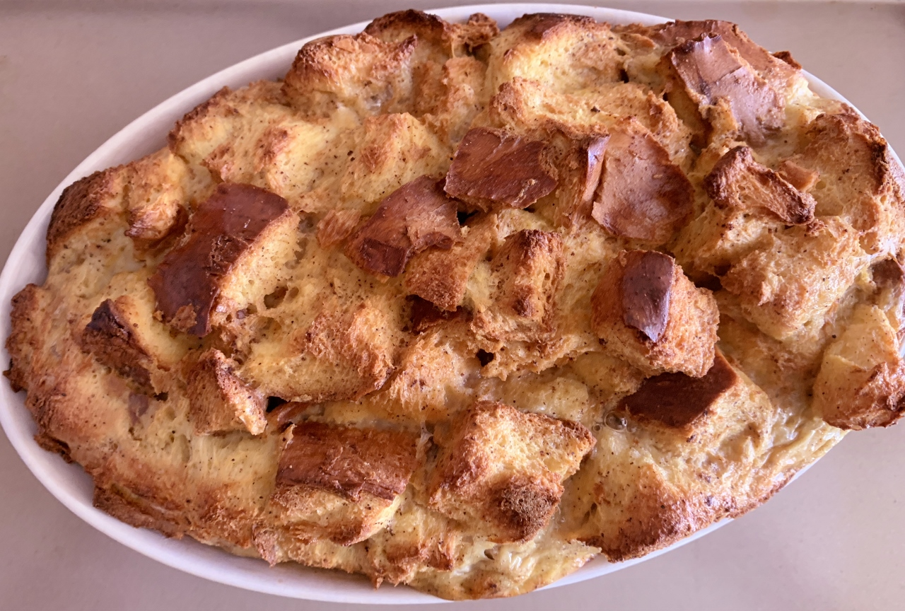 Eggnog Bread Pudding with Warm Caramel Sauce – Recipe! Image 4