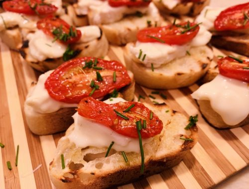 Roasted Cherry Tomato & Robiola Crostini – Recipe!