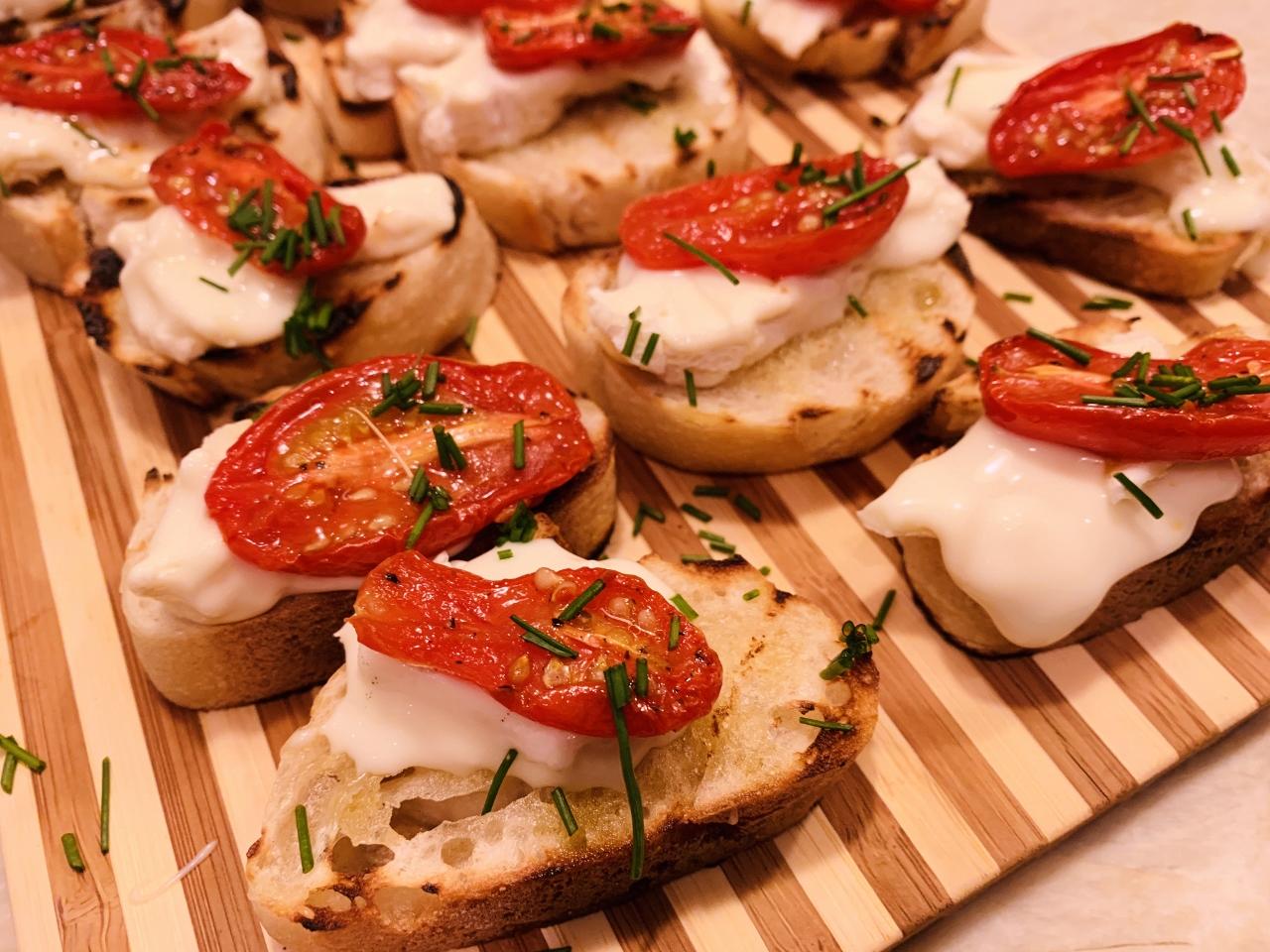 Roasted Cherry Tomato & Robiola Crostini – Recipe! Image 2
