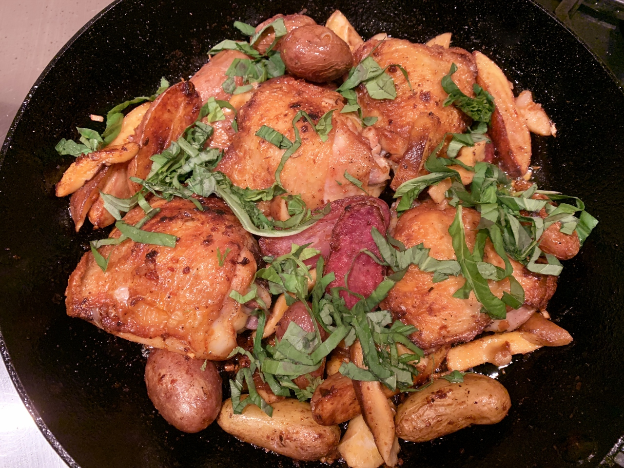 Harissa Chicken with Fingerlings & Shiitakes – Recipe! Image 2