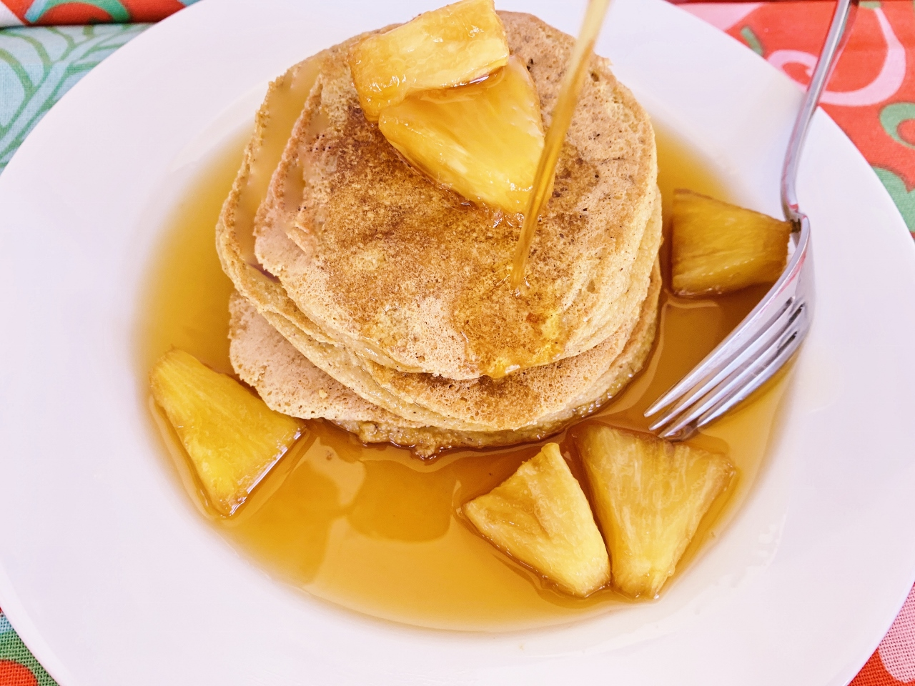 Chai Protein Pancakes with Pinapple Syrup – Recipe! Image 2