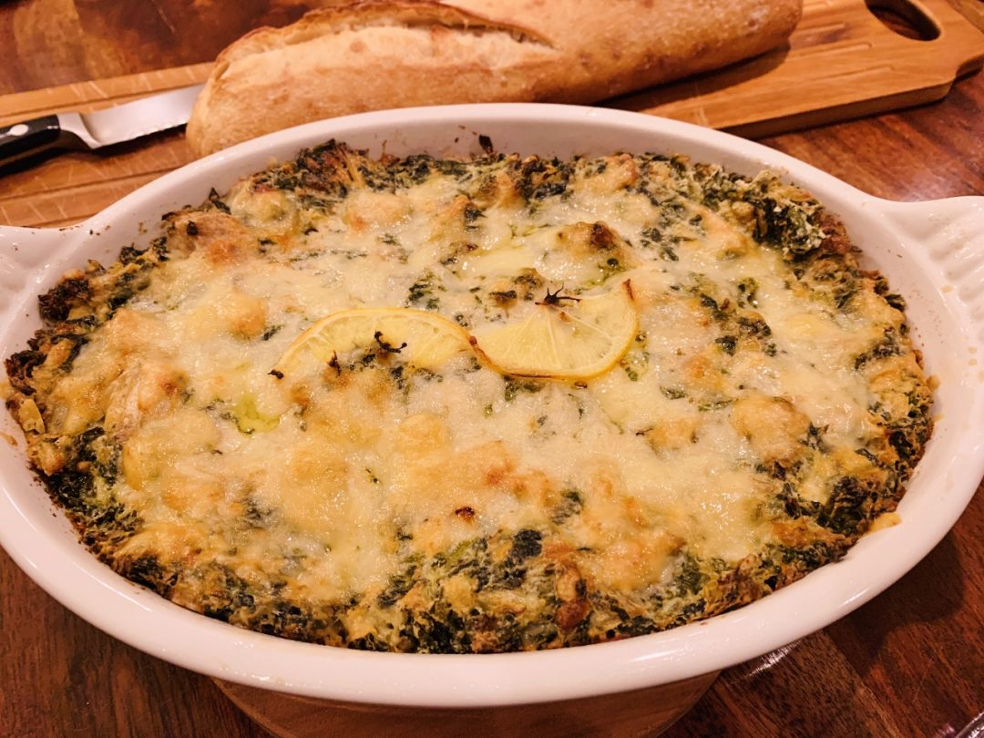 Roasted Lemon Spinach & Artichoke Dip – Recipe! Image 1