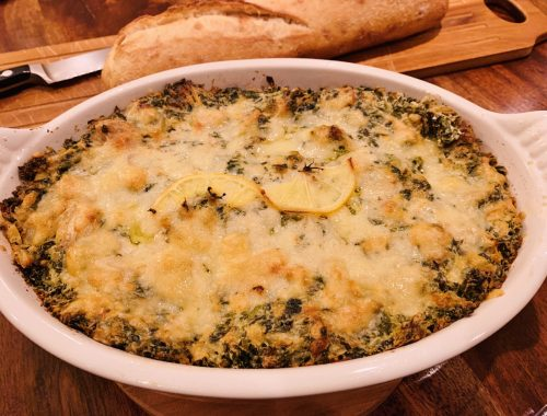 Roasted Lemon Spinach & Artichoke Dip – Recipe!