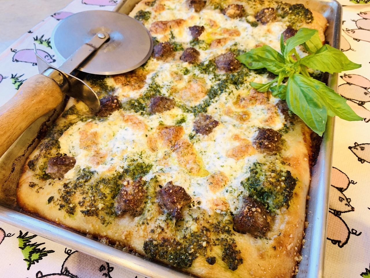 Sheet Pan Pesto Sausage Pizza – Recipe! Image 2