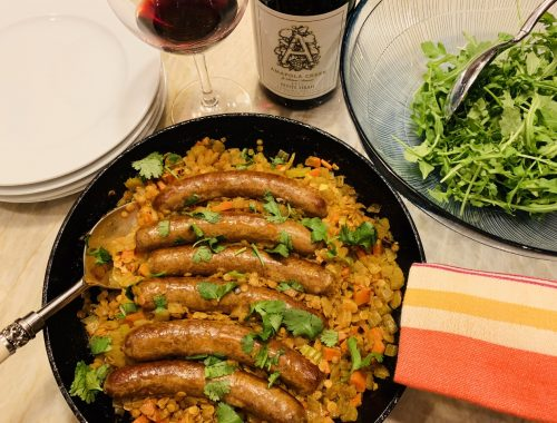 Skillet Lamb Sausage and Curried Red Lentils – Recipe!