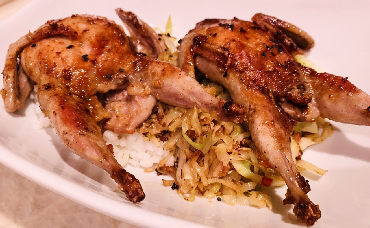 Grill Pan Asian Quail & Cabbage – Recipe & Video! Image 2