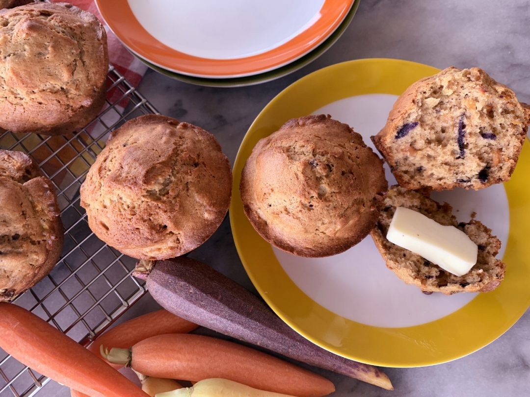 Rainbow Carrot Walnut Muffins – Recipe! Image 1