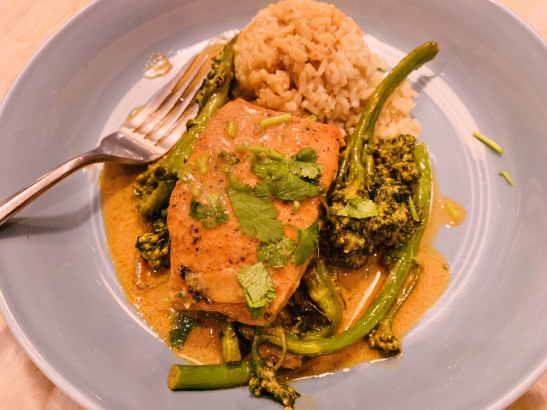 Thai Red Curry Salmon & Broccolini – Recipe! Image 1