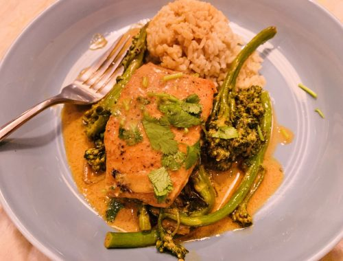 Thai Red Curry Salmon & Broccolini – Recipe!
