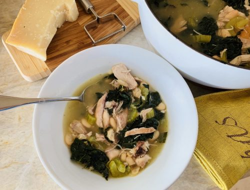 Tuscan Chicken, Kale & White Bean Soup – Recipe!