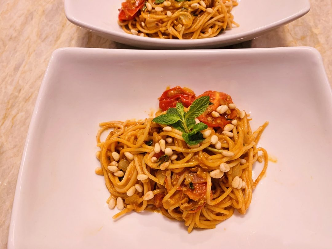 Vegan Chorizo Spaghetti with Cherry Tomatoes – Recipe! Image 1