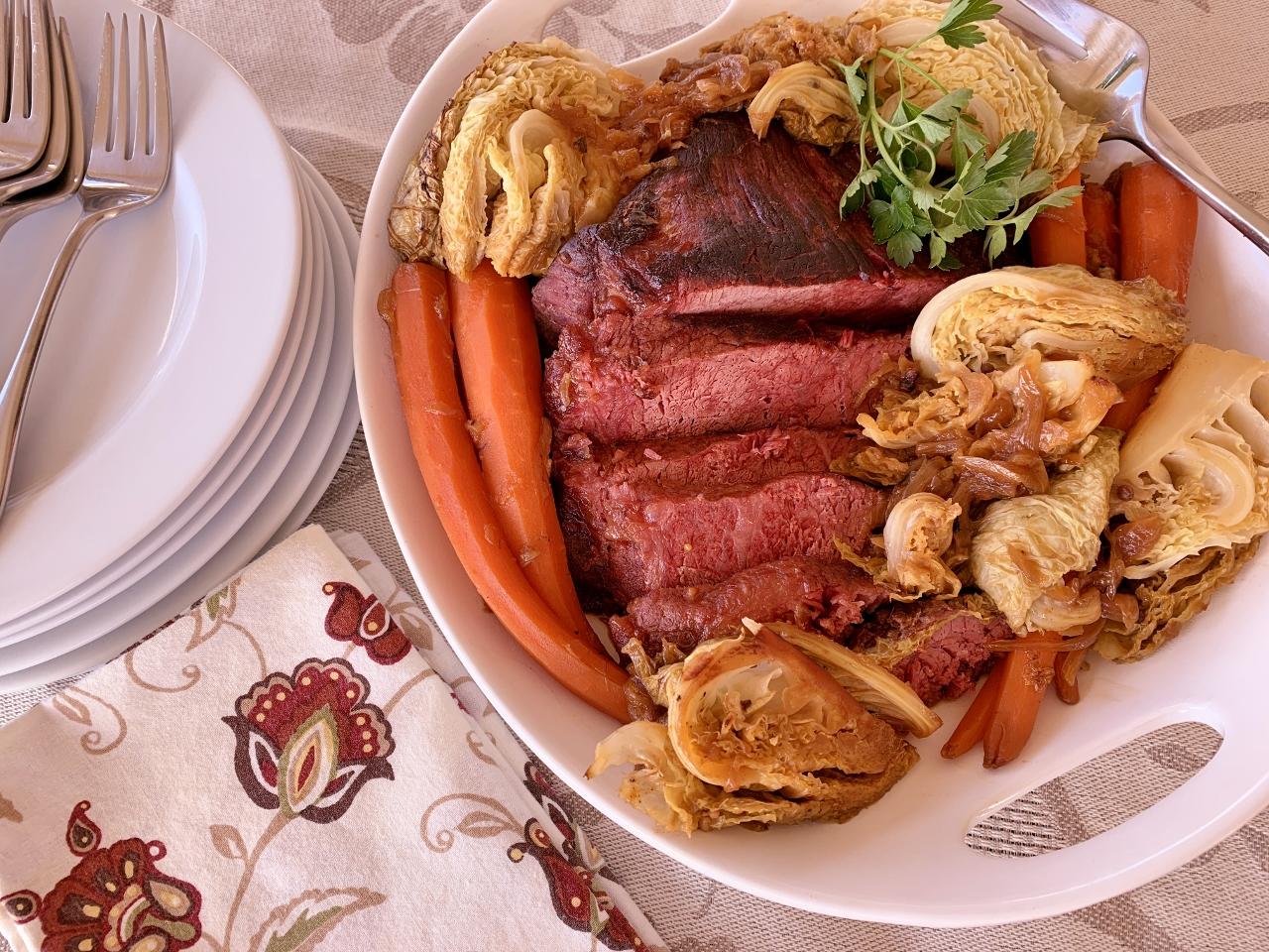 Apple Juice Braised Corned Beef & Cabbage – Recipe! Image 2