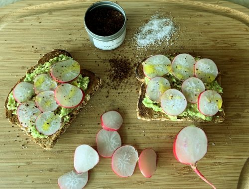 Avocado & Sweet Radish Toasts – Recipe!