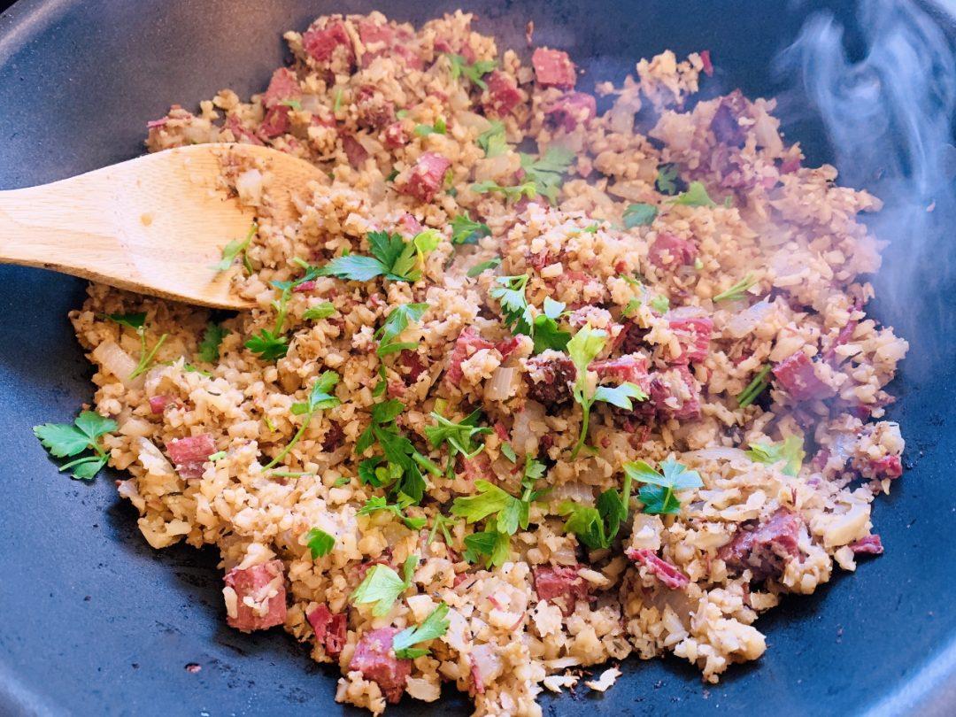Corned Beef & Riced Cauliflower Hash – Recipe! Image 1