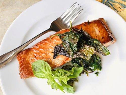 Crispy Basil Salmon – Recipe!