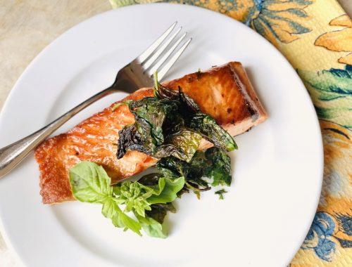 Crispy Basil Salmon – Recipe!