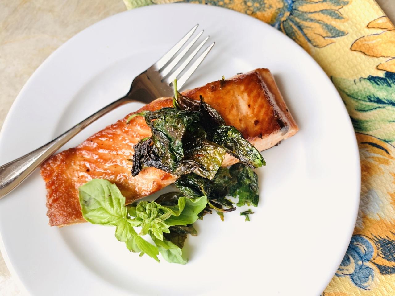 Crispy Basil Salmon – Recipe! Image 2