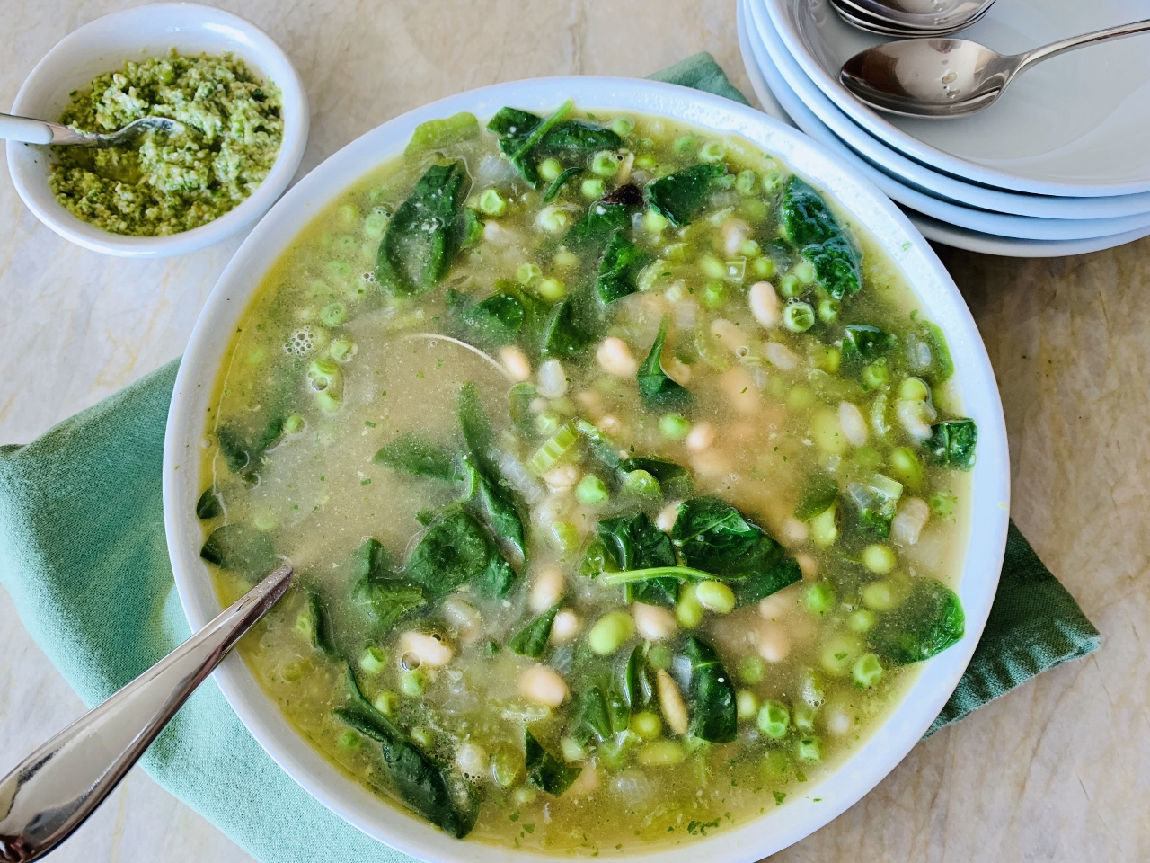 Green Minestrone with Spring Onion & Parsley Pesto – Recipe! Image 5