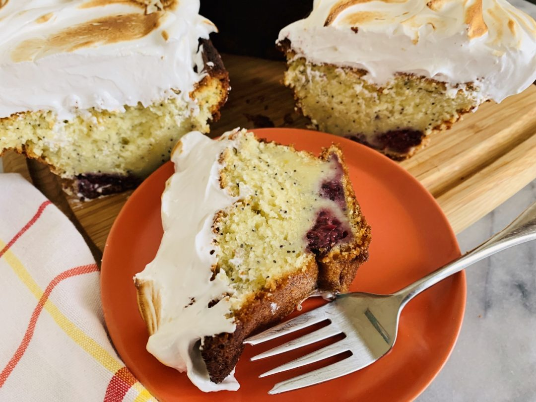 Lemon Blackberry Poppy Seed Cake with Swiss Meringue – Recipe! Image 1