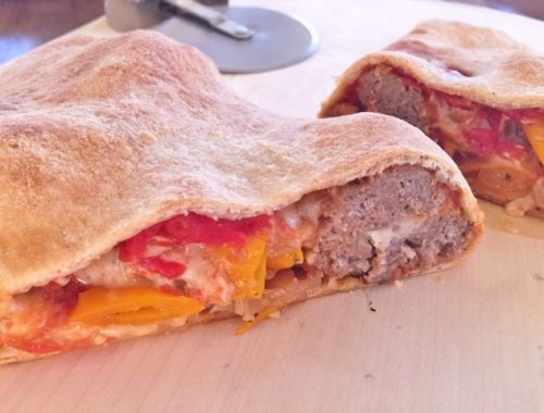 Meatball & Sweet Pepper Calzones – Recipe!