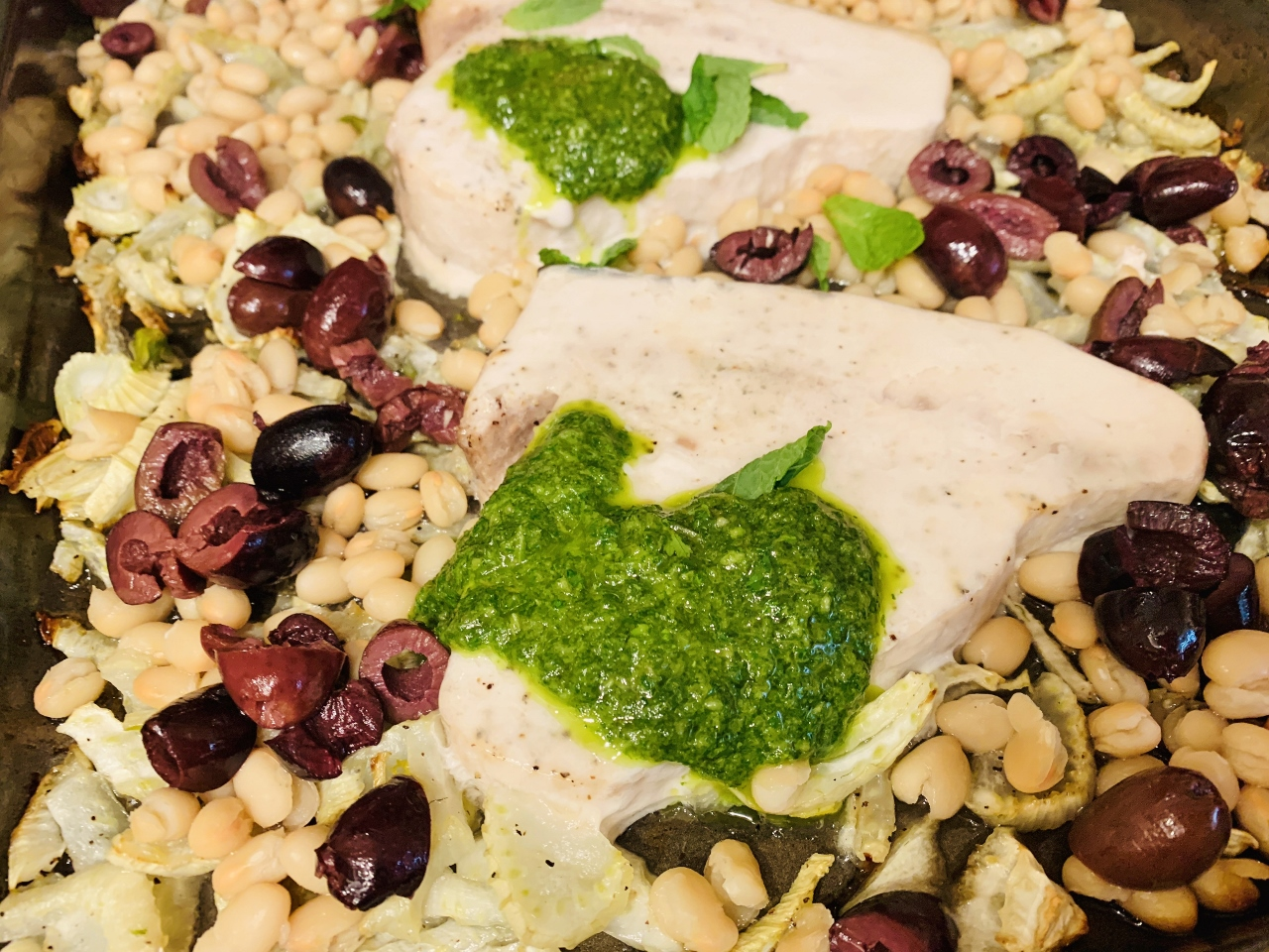 Herby Roasted Swordfish with Fennel, White Beans & Olives – Recipe! Image 2