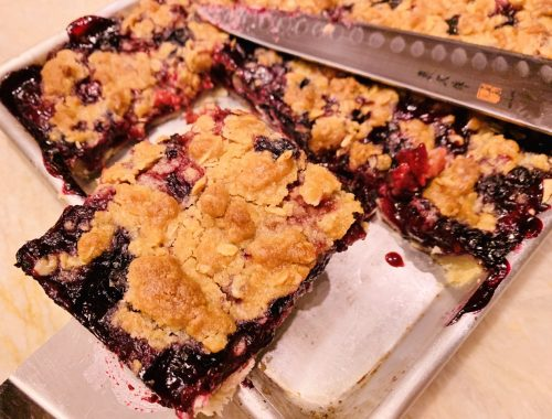 Mixed Berry Crumb Slab Pie – Recipe!