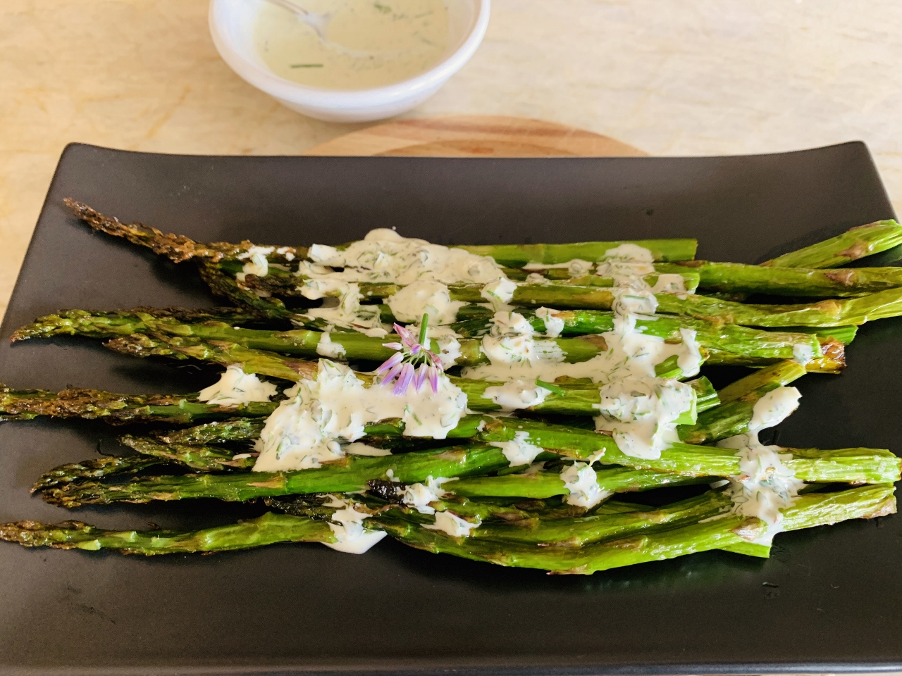 Roasted Asparagus with Herby Buttermilk Sauce – Recipe! Image 2