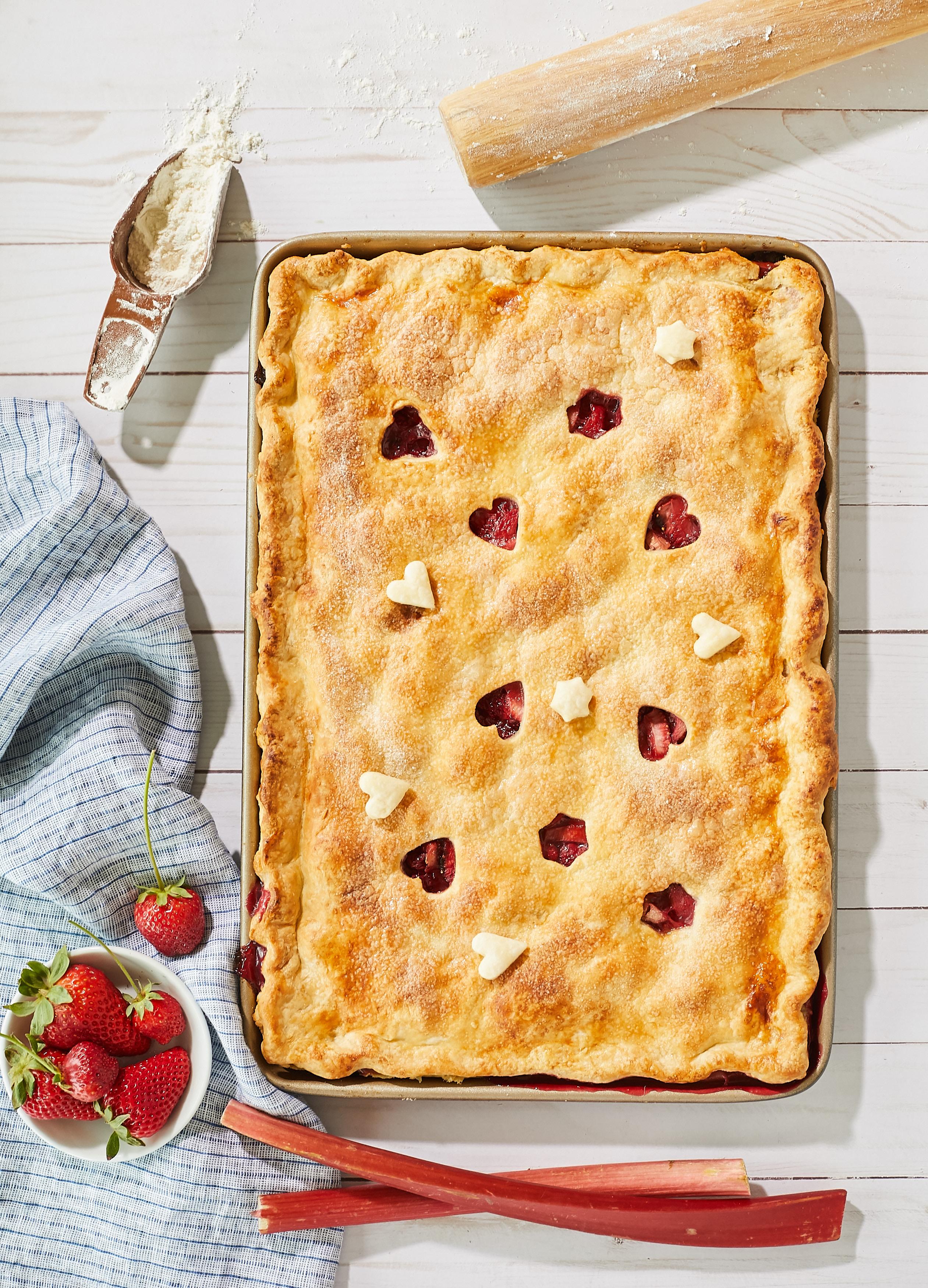 Strawberry-Raspberry Rhubarb Slab Pie – Recipe! Image 2