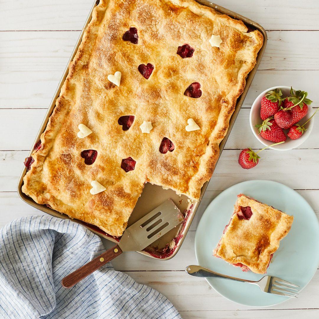 Strawberry-Raspberry Rhubarb Slab Pie – Recipe! Image 1