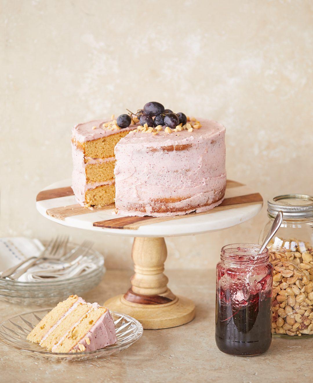 Peanut Butter Cake with Grape Buttercream – Recipe! Image 1