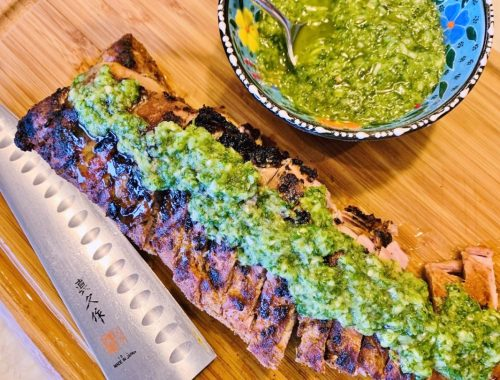 Grilled Pork Tenderloin with Cilantro Chutney – Recipe!