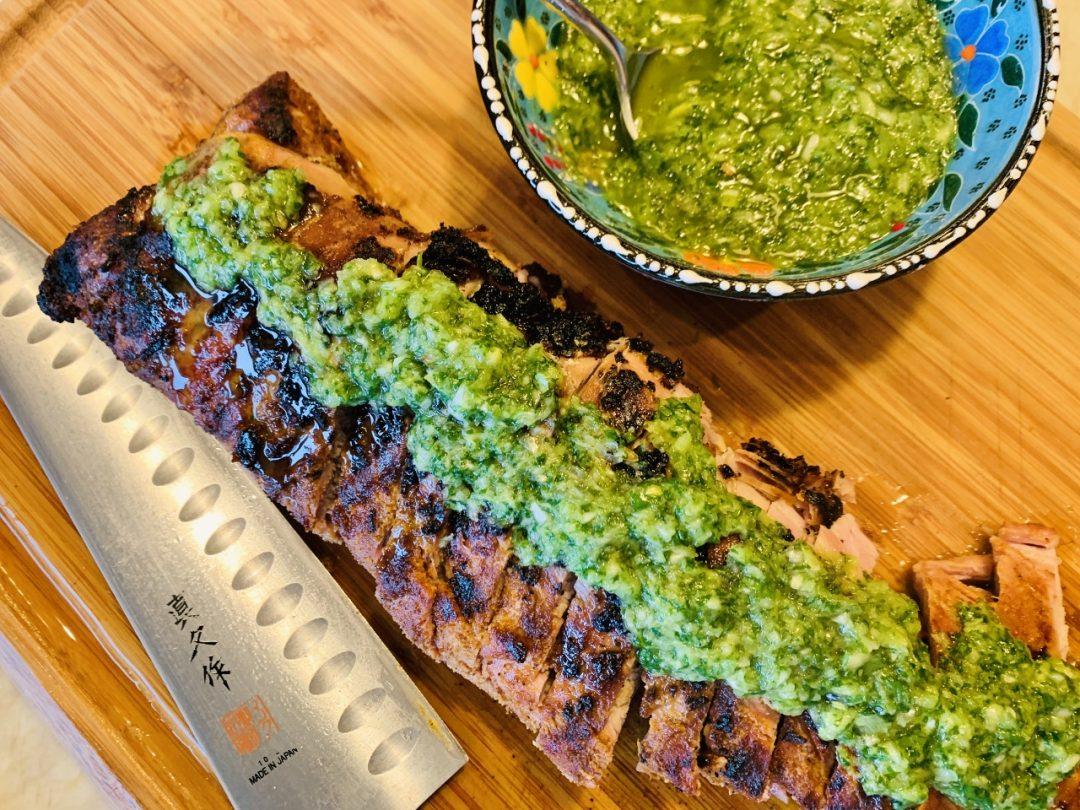 Grilled Pork Tenderloin with Cilantro Chutney – Recipe! Image 1