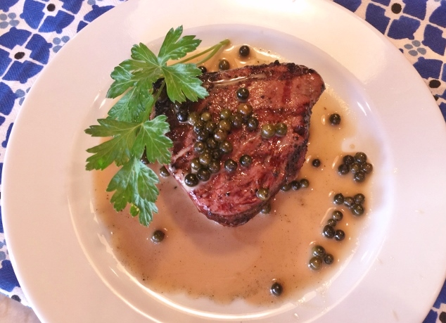 Grilled Beef Filets with Green Peppercorn Sauce – Recipe! Image 1