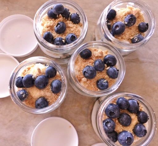 No-Bake Blueberry Cheesecake Jars – Recipe! Image 2