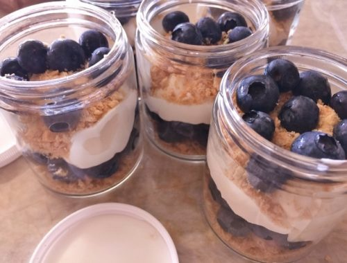 No-Bake Blueberry Cheesecake Jars – Recipe!