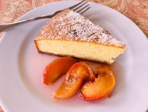 Olive Oil Cake with Warm Peach Compote – Recipe!