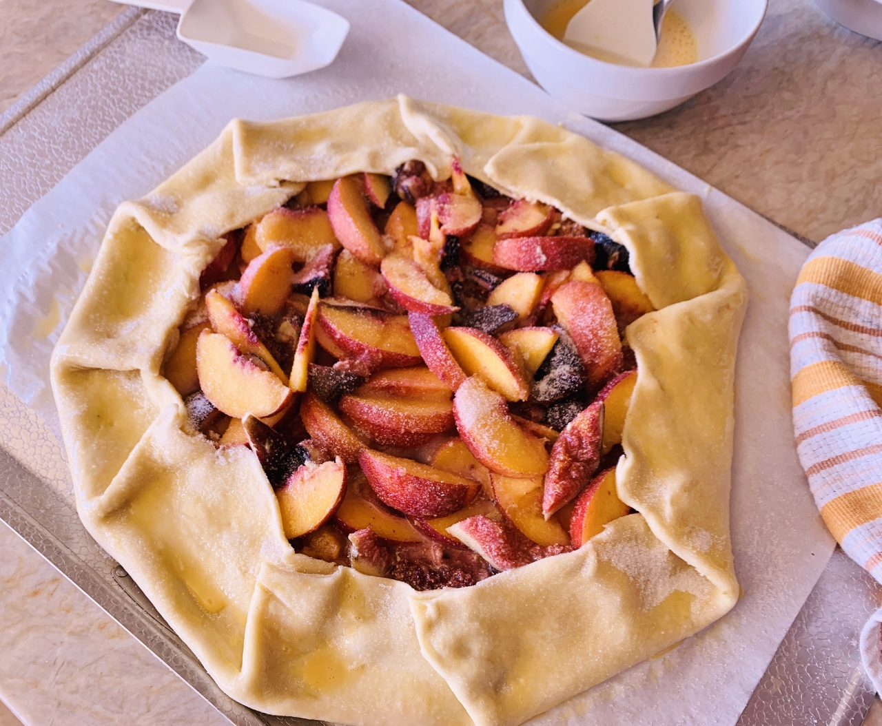 Rustic Fig & Peach Tart with Pistachio Frangipane – Recipe! Image 6